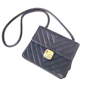 Chanel Chevron Quilted CC Push Lock Shoulder Bag